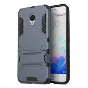 PC TPU Hybrid Back Case for Meizu m3 with Kickstand - Dark Blue