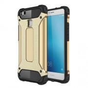 Armor Guard Plastic + TPU Back Case for Huawei P9 Lite / G9 Lite - Gold