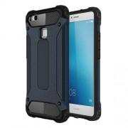 Plastic + TPU Armor Guard Shield Cover for Huawei P9 Lite / G9 Lite - Dark Blue