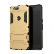 Kickstand Plastic + TPU Protector Shield Case for Huawei Nexus 6P - Gold