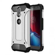 Tough Armor Υβριδική Θήκη Σιλικόνης TPU σε Συνδυαμό με Πλαστικό για Motorola Moto G4 / G4 Plus - Ασημί/Μαύρο