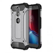 Tough Armor Υβριδική Θήκη Σιλικόνης TPU σε Συνδυαμό με Πλαστικό για Motorola Moto G4 / G4 Plus - Γκρι/Μαύρο