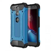 Tough Armor Υβριδική Θήκη Σιλικόνης TPU σε Συνδυαμό με Πλαστικό για Motorola Moto G4 / G4 Plus - Γαλάζιο/Μαύρο