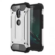 Tough Armor Υβριδική Θήκη Σιλικόνης TPU σε Συνδυαμό με Πλαστικό για Motorola Moto G4 Play - Ασημί/Μαύρο