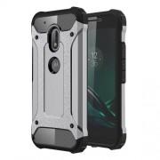 Tough Armor Υβριδική Θήκη Σιλικόνης TPU σε Συνδυαμό με Πλαστικό για Motorola Moto G4 Play - Γκρι/Μαύρο