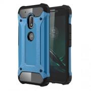 Tough Armor Υβριδική Θήκη Σιλικόνης TPU σε Συνδυαμό με Πλαστικό για Motorola Moto G4 Play - Γαλάζιο/Μαύρο