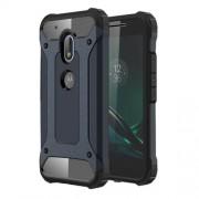 Tough Armor Υβριδική Θήκη Σιλικόνης TPU σε Συνδυαμό με Πλαστικό για Motorola Moto G4 Play - Σκούρο Μπλε/Μαύρο