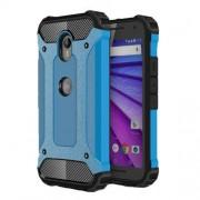 Armor Guard Plastic + TPU Hybrid Shell Cover for Motorola Moto G 3rd Gen XT1541 XT1543 - Baby Blue