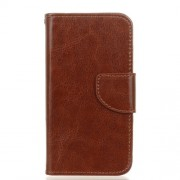 Crazy Horse PU Leather Wallet Case for Microsoft Lumia 550 - Brown