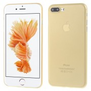 0.3mm Ultra Thin Matte PC Hard Cover Case for iPhone 7 Plus 5.5 inch - Gold