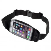 Touch Screen Running Belt Waist Pack Bag for iPhone 7 6 6s 4.7. Size: 149 x 75mm - Black