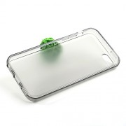 Θήκη Σιλικόνης TPU με Γυαλιστερά Άκρα και Ματ Πλάτη για iPhone 5C - Γκρι