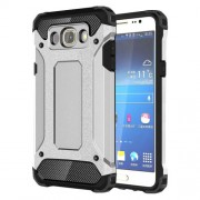 Armor Guard Hybrid Plastic + TPU Shell for Samsung Galaxy J7 (2016) - Silver