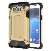 Hybrid Plastic + TPU Cover Case Armor Guard for Samsung Galaxy J7 (2016) - Gold