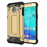 Υβριδική Θήκη Σιλικόνης TPU σε Συνδυαμό με Πλαστικό για Samsung Galaxy S6 Edge Plus G928 - Χρυσαφί