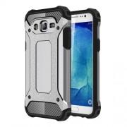 Armor Guard Plastic + TPU Hybrid Phone Case for Samsung Galaxy J5 SM-J500F - Grey