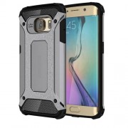 Armor Guard Plastic + TPU Back Case for Samsung Galaxy S6 Edge G925 - Grey