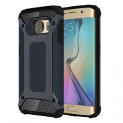 Armor Guard Plastic + TPU Case Shell for Samsung Galaxy S6 Edge G925 - Dark Blue