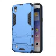 Υβριδική Θήκη Συνδυασμού Σιλικόνης TPU και Πλαστικού με Βάση Στήριξης για LG X Power - Γαλάζιο