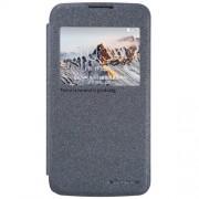 NILLKIN Sparkle Series Δερμάτινη Θήκη Βιβλίο Smart Cover για LG K4 - Μαύρο