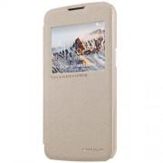NILLKIN Sparkle Series Δερμάτινη Θήκη Βιβλίο Smart Cover για LG K4 - Χρυσαφί