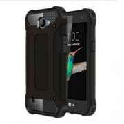 Armor Guard Plastic + TPU Hybrid Case for LG K4 - Black