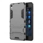 Θήκη Σιλικόνης TPU σε Συνδυασμό με Πλαστικό και Βάση Στήριξης για Sony Xperia E5 - Γκρι