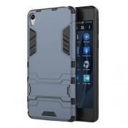 Θήκη Σιλικόνης TPU σε Συνδυασμό με Πλαστικό και Βάση Στήριξης για Sony Xperia E5 - Σκούρο Μπλε