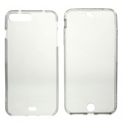 Clear Touchable Front + Back TPU Cover for iPhone 7 Plus / 8 Plus 5,5 inch - Grey