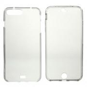 Θήκη Σιλικόνης TPU με Πρόσοψη TPU Ημιδιάφανη (2 τεμάχια) για iPhone 7 Plus / 8 Plus - Γκρι
