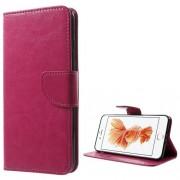 Δερμάτινη Θήκη Πορτοφόλι με Βάση Στήριξης για iPhone 7 Plus / 8 Plus - Φούξια