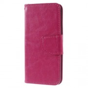 Crazy Horse Leather Stand Card Slot Case for iPhone 7 4,7 Inch - Rose