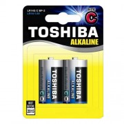 Toshiba Battery Alcaline C 1.5V LR14 BP2 (2 pieces)