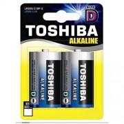 Toshiba Μπαταρία Αλκαλική D 1.5V LR20 BP2 (2 τεμάχια)