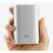 Xiaomi 10000mAh Alouminium Power Bank DC 5.1V 2.1A for iPhone iPad Samsung Sony LG HTC Smartphones - Silver