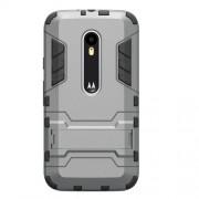Kickstand PC TPU Hybrid Case for Motorola Moto G 3rd Gen XT1541 XT1543 - Grey