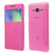 Δερμάτινη Θήκη Βιβλίο Smart Cover για Samsung Galaxy A5 SM-A500F - Φούξια