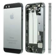 Μεταλλικό Καπάκι Μπαταρίας με Ενδιάμεσο Πλαίσιο και όλα τα Παρελκόμενα για iPhone 5s - Μαύρο/Γκρι