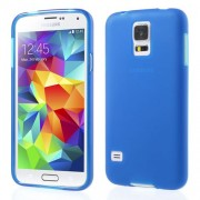 Dark Blue Double-sided Frosted Protective TPU Case for Samsung Galaxy S5 G900