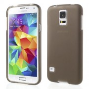 Grey Double-sided Frosted TPU Back Case for Samsung Galaxy S5 (Smooth Edge)