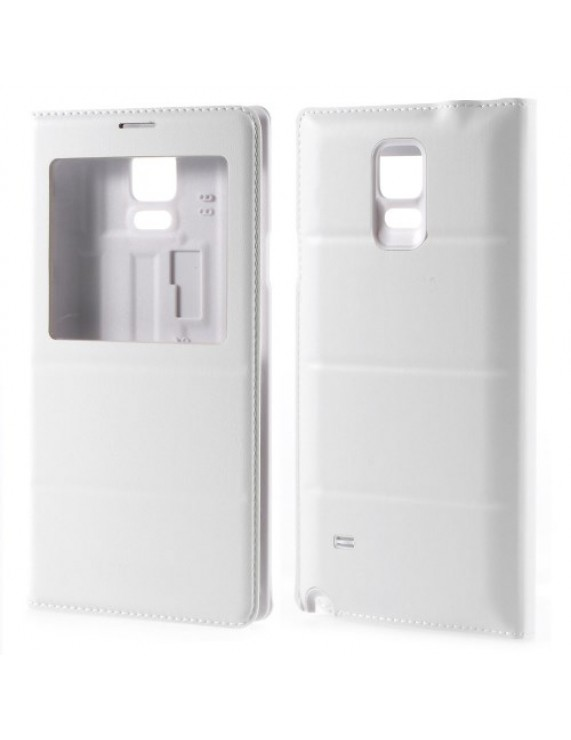 a8a66619c2 Δερμάτινη Θήκη Βιβλίο Smart Cover με Ενσωματωμένο Καπάκι Μπαταρίας για Samsung  Galaxy Note 4 N910 - Λευκό (50003324) by stoucky.gr