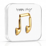 Happy Plugs Earbud Earphone with Mic - Gold