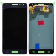Γνήσια Samsung Οθόνη LCD και Μηχανισμός Αφής για Samsung Galaxy Alpha SM-G850F - Μαύρο (GH97-16386A)