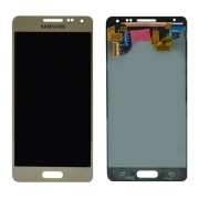Γνήσια Samsung Οθόνη LCD και Μηχανισμός Αφής για Samsung Galaxy Alpha SM-G850F - Χρυσαφί (GH97-16386B)