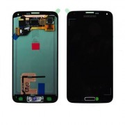 Γνήσια Samsung Οθόνη LCD και Μηχανισμός Αφής για Samsung Galaxy S5 SM-G900F SM-G901F - Μαύρο (GH97-15734B, GH97-15959B)
