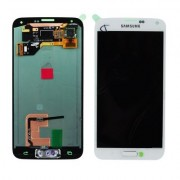 Γνήσια Samsung Οθόνη LCD και Μηχανισμός Αφής για Samsung Galaxy S5 G900 G901 - Λευκό (GH97-15734A , GH97-15959A)