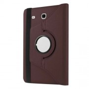 Litchi Texture Rotary Stand Leather Cover for Samsung Galaxy Tab E 9,6 T560 / T561 - Brown