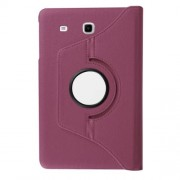 Litchi Texture Rotary Stand Leather Cover for Samsung Galaxy Tab E 9,6 T560 / T561 - Purple