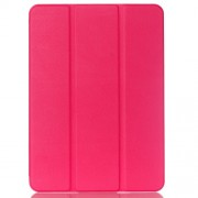 Tri-fold Stand Leather Smart Case for Samsung Galaxy Tab S2 9.7 T810 T815 Lychee Texture - Rose