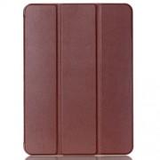 Δερμάτινη Θήκη Βιβλίο Tri-fold με Βάση Στήριξης για Samsung Galaxy Tab S2 9.7 T810 T815 - Καφέ